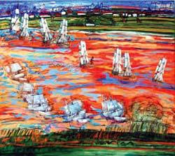 Liliana Golubinsky, pintora argentina, expone en la galería Kreisler de Madrid