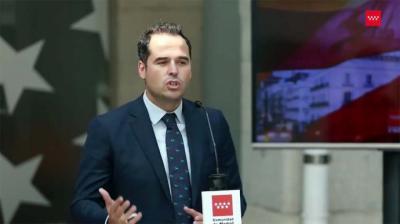 El vicepresidente madrileño, Ignacio Aguado, (Captura de pantalla)