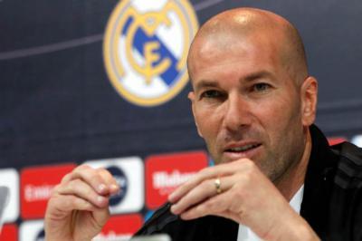 Zinedine Zidane entrenador del Real Madrid