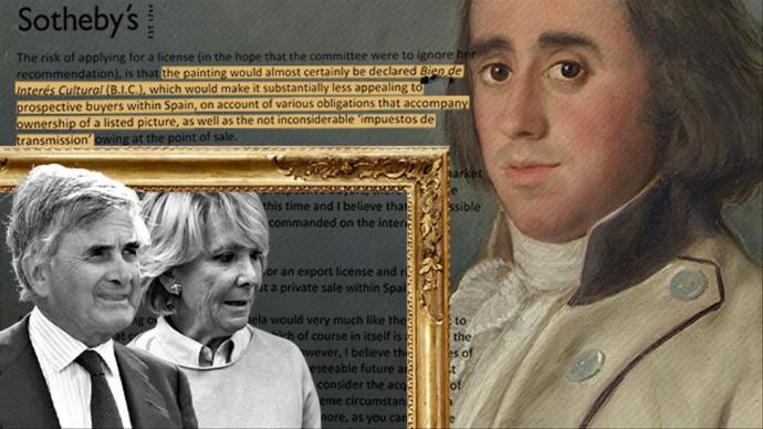 Esperanza Aguirre y su marido vendieron un Goya inédito por cinco millones sin protegerlo como bien cultural para ahorrarse impuestos