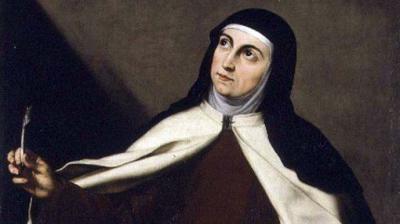 La huella malagueña de Santa Teresa