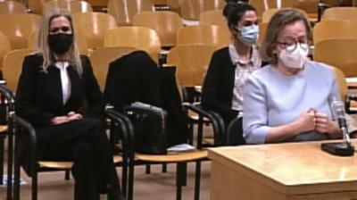Ckifiuentes (izq.) emn el juicio hoy, (captura pantalla)