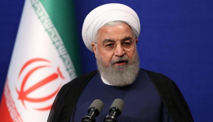 En la imagen, el presidente Hassan Rohani.