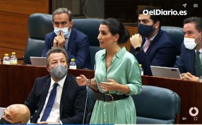 La portavoz de la formación de extrema derecha, Rocío Monasteri