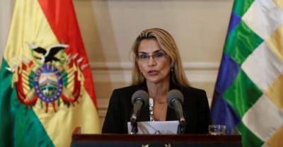 La expresidenta de facto de Bolivia Jeanine Áñez