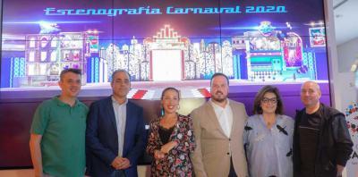 El Ayuntamiento de Santa Cruz de Tenerife presenta un escenario para el Carnaval 2020 lleno de volúmenes y fiel a los coquetos años 50