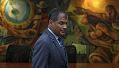 Rafael Correa afronta orden de prisión preventiva desde julio pasado.