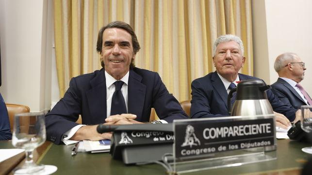 José María Aznar, durante su comparecencia en el Congreso