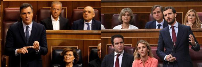 Casado avisa que 'las elecciones las carga el diablo' y Sánchez pide mayoría 'rotunda' para el PSOE para evitar bloqueos