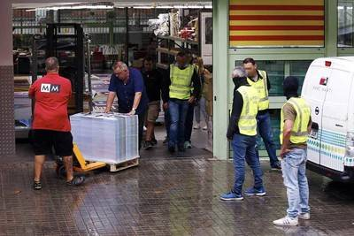 Guardia Civil incauta en Cataluña material para el referendo