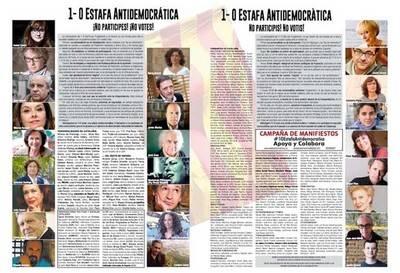 Un manifiesto llama a no votar en la 'estafa antidemocrática' del 1-O