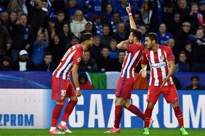 Saúl Ñíguez anotó el gol que le dio el empate y la clasificación al Atlético de Madrid.