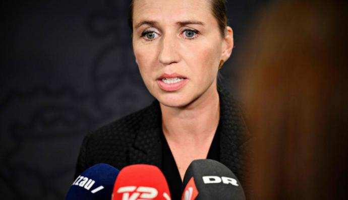 La primera ministradanesa, Mette Frederiksen