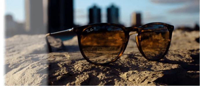 Tres diferentes tipos de gafas de sol en el mercado