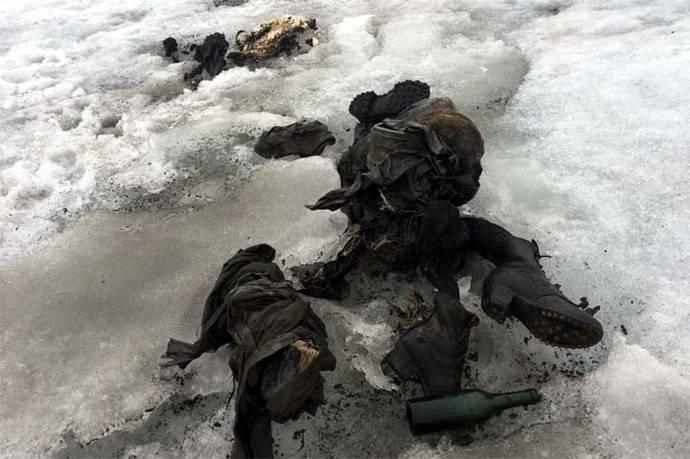 Hallada pareja momificada en un glaciar suizo, 75 años después de su desaparición