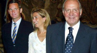 Urdangarín, la infanta Cristina y el rey emérito Juan Carlos en una imagen de archivo