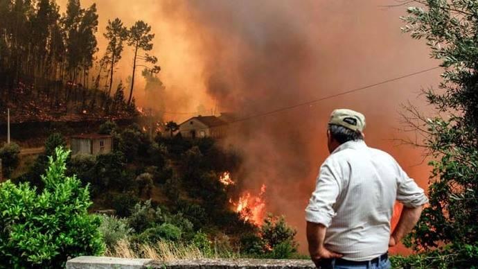 Portugal vive un infierno de fuego y destrucción