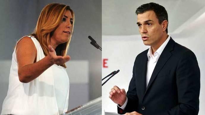 Sánchez reivindica el apoyo de las bases y Díaz presume del respaldo del aparato de su partido