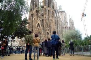 Turistas en Barcelona (imagen de archivo)
