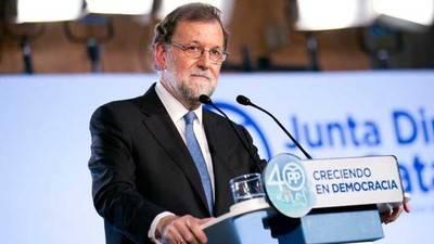 El presidente del Gobierno, Mariano Rajoy, durante un acto del Partido Popular en Cataluya. PARTIDO POPULAR