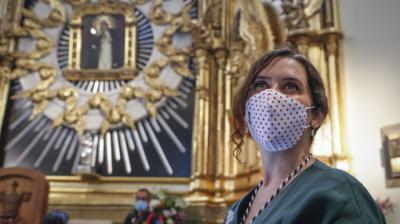Isabel Díaz Ayuso en la celebración de la festividad de la Virgen de la Paloma el 15 de agosto.Comunidad de Madrid