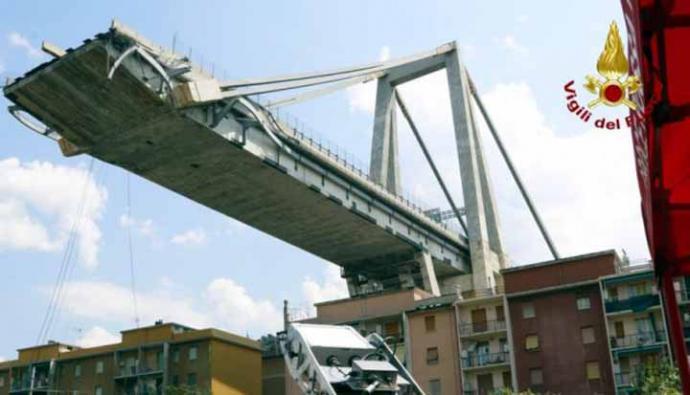 Italia: Prohíben entrar en la 'zona roja' de Génova por ruidos en el puente