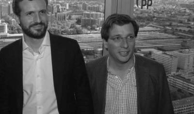 Pablo Casado y José Luis Martínez-Almeida, en una imagen de archivo