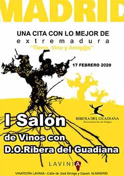I Salón de Vinos con D.O. Ribera Del Guadiana en Madrid