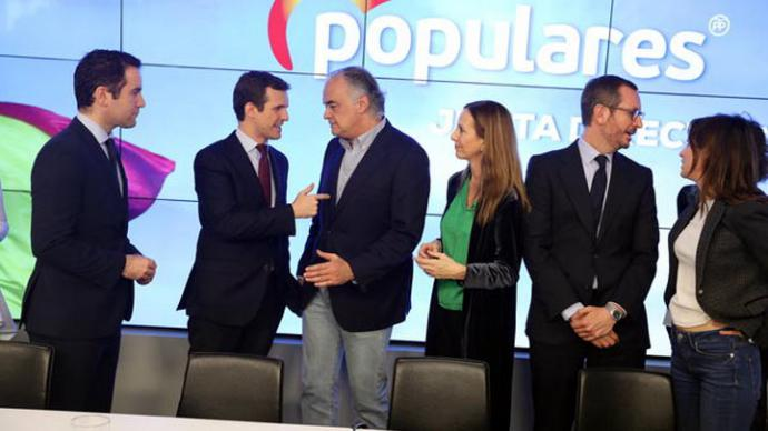 Reunión de la Junta Directiva Nacional del PP de este lunes.