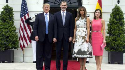 Trump recibe a los reyes de España y dice que su relación es excepcional