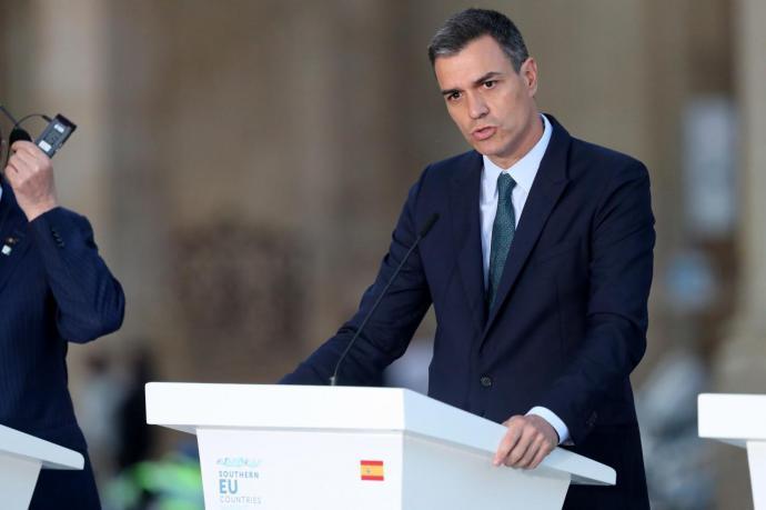 Pedro Sánchez , presidente del gobierno en funciones