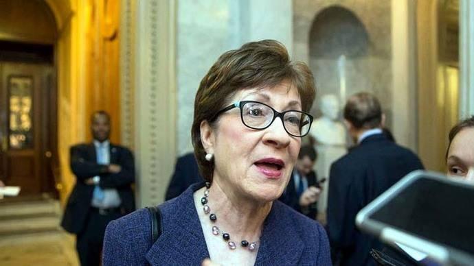 La senadora republicana Susan Collins