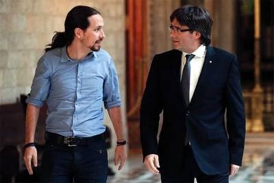 Pablo Iglesias y Carles Puigdemont en una imagen de archivo