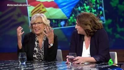 Manuela Carmena y Ada Colau han estado este martes en el Intermedio de La Sexta