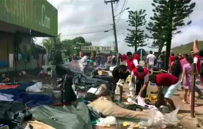 Migrantes venezolanos temen nuevos ataques en la frontera norte de Brasil