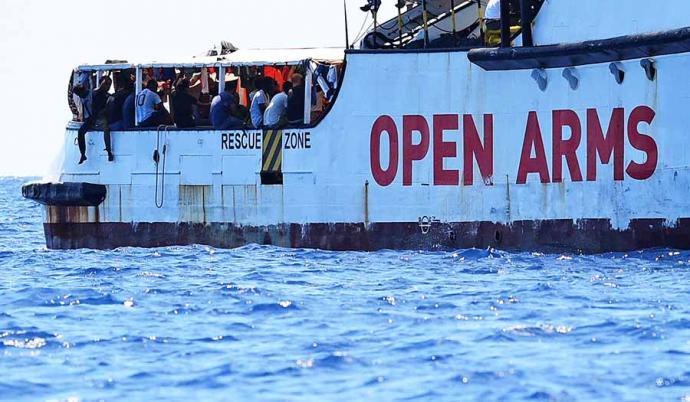 Vox denunciará hoy ante la Fiscalía al Open Arms por 'favorecer la inmigración ilegal'