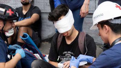 Gustavo Gatica el día en que fue herido por Carabineros
