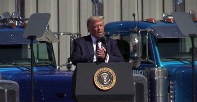 Trump durante una conferencia de prensa (captura de vídeo)