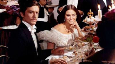 "Una escena de la película ""Il Gattopardo"" del cineasta italiano Luchino Visconti con Alain Delon y Claudia Cardinali"