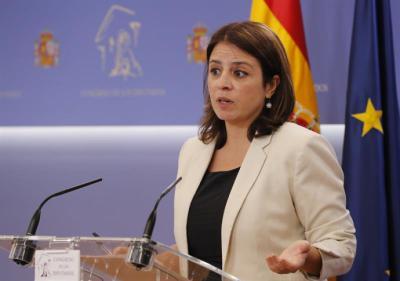 Adriana Lastra, portavoz del grupo socialista en el Congrtso