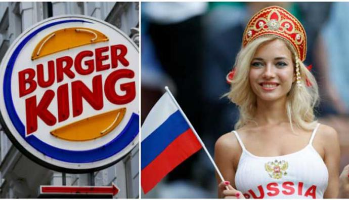 Burger King ofreció hamburguesas gratis a rusas que se embarazaran de futbolistas