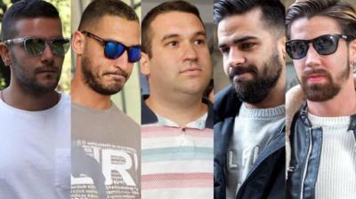 """Los cinco miembros de """"La Manada""""..."""