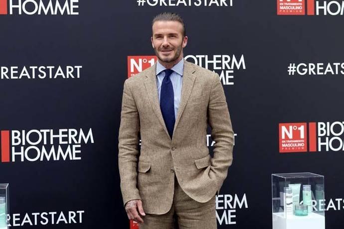 Beckham pasa por Madrid y nos cuenta sus secretos de belleza
