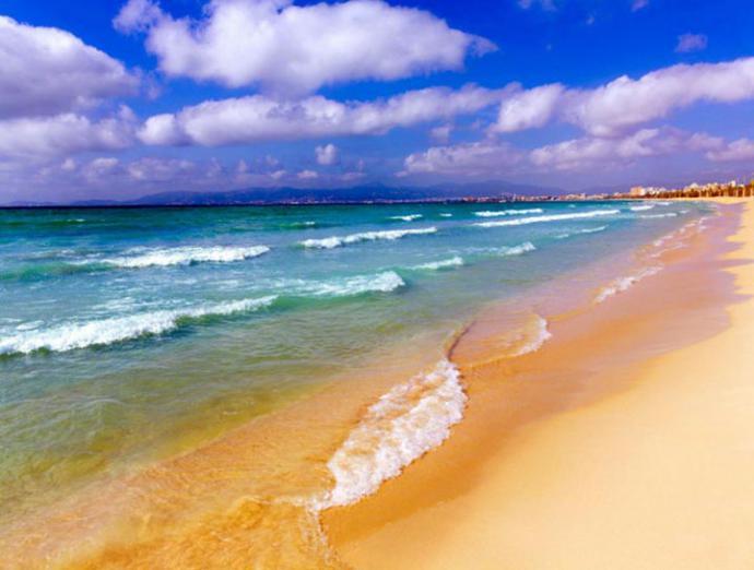 Una playa de Palma de Mallorca