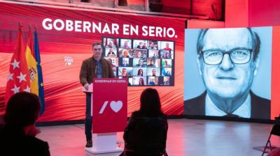 Pedro Sánchez durante la presentación de la campaña de Ángel Gabilondo bajo el lema 'Gobernar en serio'Inma Mesa (PSOE)