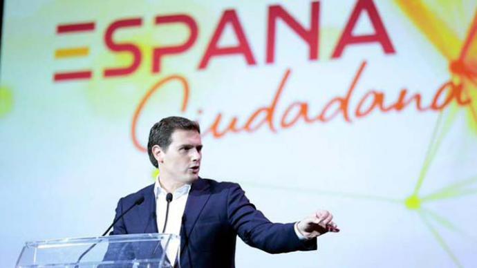 Albert Rivera, en el acto España Ciudadana. Imagen: Ciudadanos