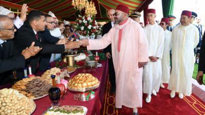 Mohamed VI en la celebración del 20º aniversario de su reinado en Tánger en 2019.Bestimages