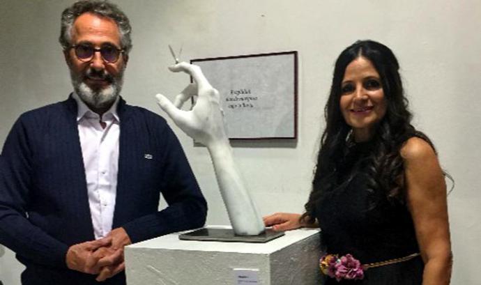 """Paco Sáinz, escultor, y Estrella Cuadrado, poeta, juntos en """"Palabras esculpidas"""""""