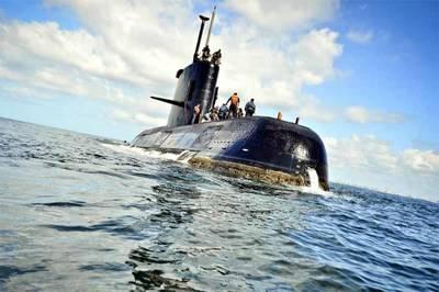El submarino argentino ARA San Juan en una imagen entregada por la Armada.