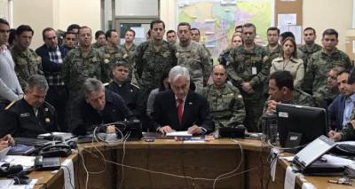 """Chile: Sebastián Piñera: """"Estamos en guerra contra un enemigo poderoso"""""""